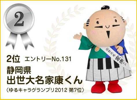 2位:静岡県 出世大名家康くん
