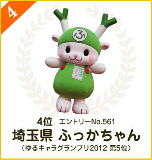4位:埼玉県 ふっかちゃん