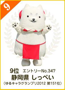 9位:静岡県 しっぺい